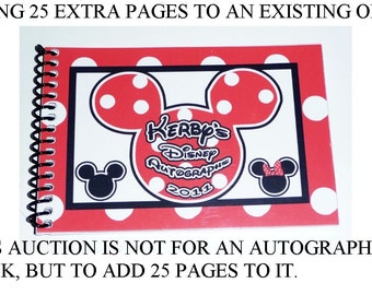 Personalized Autograph Book - 25 extra pages to add to your book