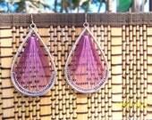 Purple Threaded Earrings