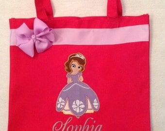 Personalized Tote Bag, Personalized Tote, Sofia Inspired Tote Bag, Sofia the first Tote, Sofia Princess Gift, Personalized Sofia the first