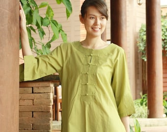 SALE 29 USD--B134--My beloved (Cotton blouse)