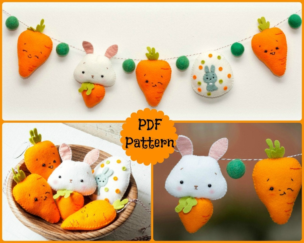 Bunny Carrot Bunny Carrots And Easter Egg