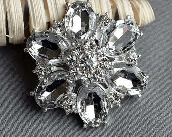 3 Rhinestone Brooch Embellishment Crystal Pearl Wedding Brooch Bouquet Invitation Cake Decoration Hair Comb Shoe Clip BR243