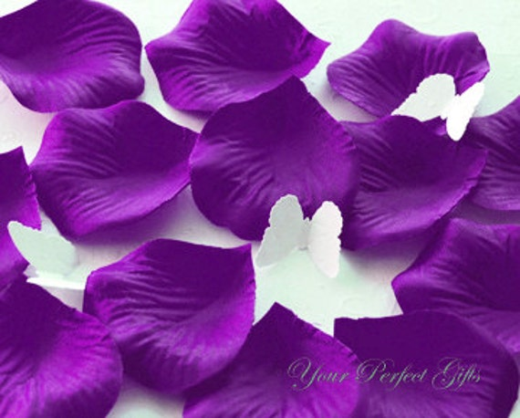 1000 dark purple silk rose petals wedding flower favor like this item mightylinksfo