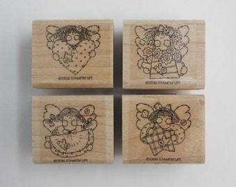 Angel Stamps - Stampin Up Set of 4