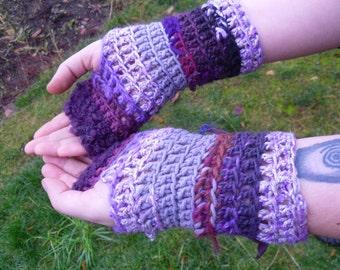 Scrappy Purple Fingerless Gloves