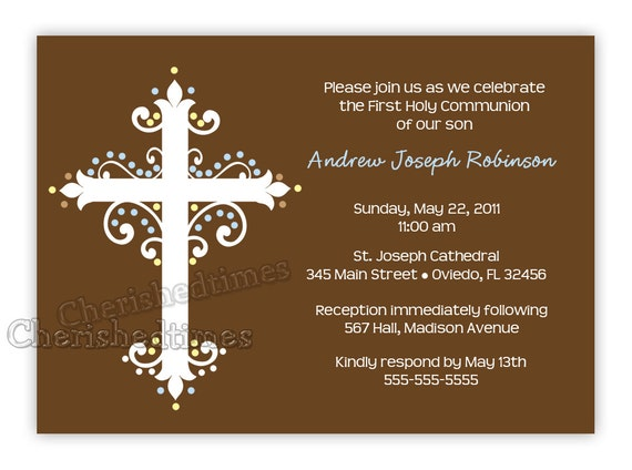 First Communion Invitations For Boys for adorable invitation template