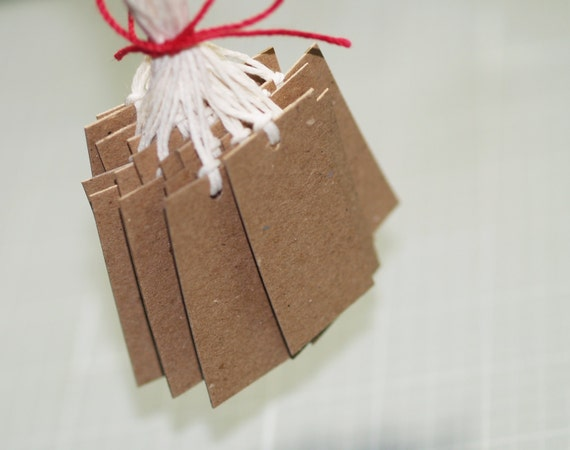 50 kraft tags 2 x 1 chipboard tags natural twine by for Price tags for craft shows