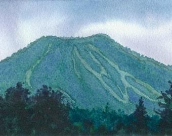 Original Burke Mountain Watercolor Painting