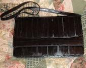 Mint Black Eel Skin Leather Shoulderbag Clutch  Shoulder Bag