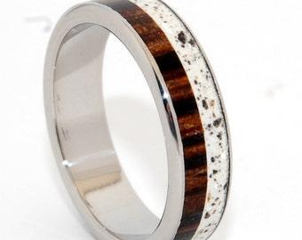 wedding ring, titanium rings, wood rings titanium wedding ring, men's ring, women's ring, concrete, concrete ring- FAITH