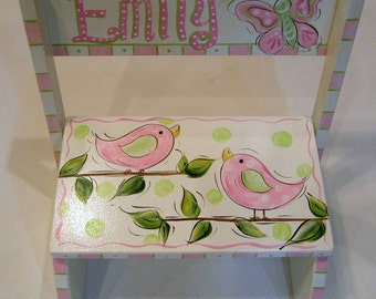 Birdies and Butterfly Step Stool