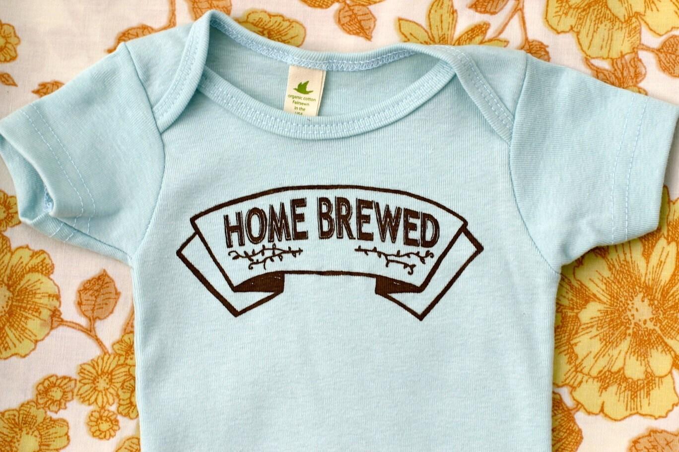 Organic Baby Onesie Home Brewed Infant Bodysuit Baby One