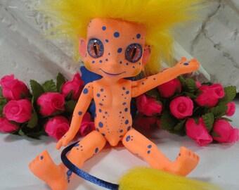 Shhhhhh its a PixieTroll OOAK original custom art Troll doll preorder BOY