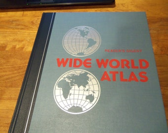 Vintage Wide World Atlas