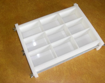 No Liner 9 bar 2 lb slab tray Soap Mold lye & glycerin, cold or hot process. Wooden Wood Lids AVAIL. E