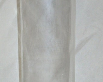 Mid Century Glass Jar Canister Cork Lid 13 1/2in tall