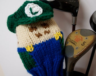 Super Mario Brothers Luigi Knit Golf Club Cover
