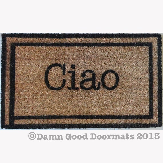 Sale Ciao Italian Hello Goodbye Doormat