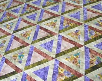 Triangle Patchwork quilt pattern- quick and easy quilt pattern