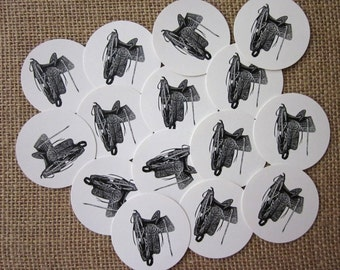 Saddle Tags Round Paper Gift Tags Set of 10