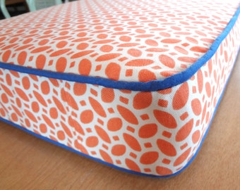 "Bench Seat Cushion,Custom, 65"" x 18"" x 3"". Use your own fabric.Includes foam, batting, zipper. Made to Order."