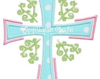 330 Cross Machine Embroidery Applique Design
