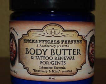 Just for Men - Tattoo Renewal and Body Butter 6 fl oz - You pick the scent