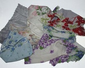 Lot of 9 Vintage Handkerchiefs Hankies Womans Printed Floral White Embroidered
