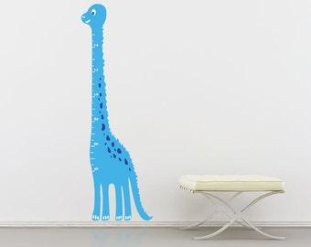 Children's Dinosaur Height Chart Sticker