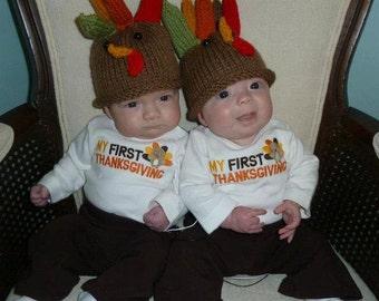 Infant Turkey Hat 3-6 Months