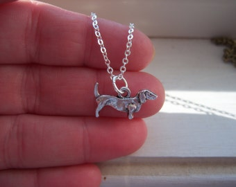 Dachshund Necklace - Dog Necklace -Weiner Dog Necklace - Free Gift With Purchase