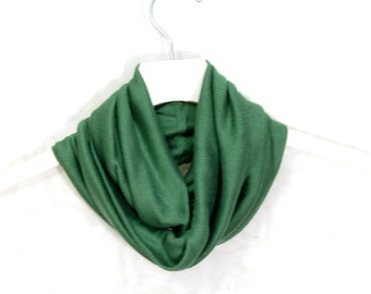 SALE - Knit Infinity Scarf Gift for Her Circle Scarf Loop Spring Cowl Spring Scarf Summer Scarf Lightweight Scarf Womens Scarf Green Scarf