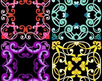 FANCY BAROQUE SWIRLS - 30 Machine Embroidery Designs Instant Download 4x4 5x7 6x10 hoop (AzEB)