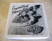 Vintage Crystal Ball Flower Ring  Circa 1950s