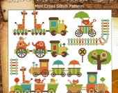ChooChoo Train Ride Mini Sampler  PDF Cross Stitch Chart