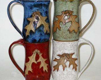 Oak Leaf Mug with Acorns