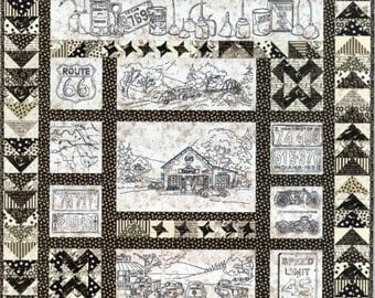 Crabapple Hill Quilt Pattern  Hand Embroidery  274 Vintage Tin Cars Route 66