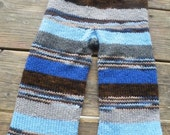 Blues and greys striped scrappy longies  made to order. Custom