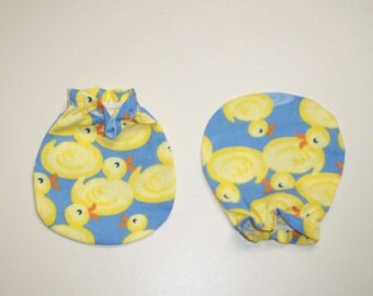 Too Cute Rubber Ducky Baby Mitts