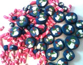 Snowmen and peppermint stick Destash Lot of polymer beads