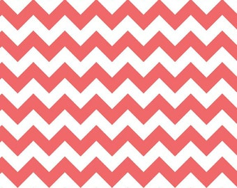 SALE - Riley Blake - Small Chevron in Rouge
