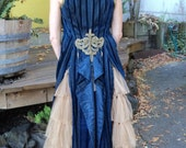 Antique Victorian Silk Velvet Coat Vest Couture Metallic trim with Tales and Ruffled Netting On HOLD For V