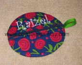 Personalized Large Round Paci Holder