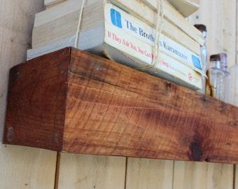 "Floating Box Shelf - 23"" Long x 11"" DEEP x 3"" TALL - Farmhouse Chic - Wood - Shelves - Reclaimed Wooden Shelving"