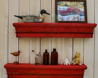 Floating Shelves - Wood - Wooden Shelf -  Shabby Furniture - Cottage Chic - 40 Inches