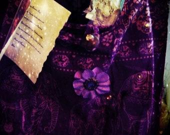 Nights on the Nile Purse Purple Gypsy Elephants Mystical Egyptian Moon Tarot Gypsy
