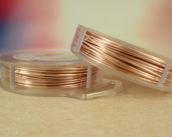 Rose Gold Color Artistic Wire - Permanently Colored - You Pick Gauge 18, 20, 22, 24, 26, 28, 30, 32 – 100% Guarantee