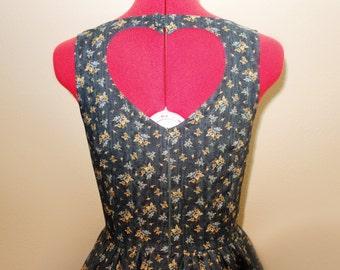 Floral Heart Cutout Dress