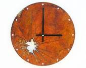 Shattered Metal, Medium Wall Clock, Rusted Wall Clock, rustic wall clock, unique wall clock, modern wall clock, steampunk wall clock