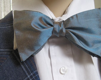 Teal Silk Bow Tie